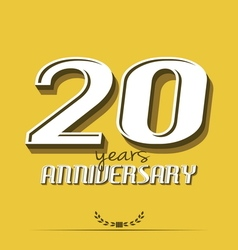 20 years anniversary poster template vector image