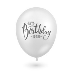 3d realistic glossy white balloon closeup vector image