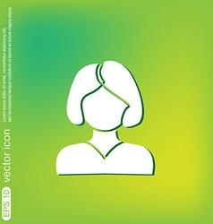 A female avatar girl with hair tail Avatar of a vector image