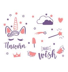 A magic cute set vector