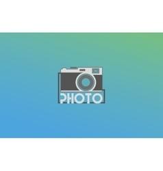 Abstract camera logo logotype design vector image