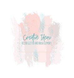 abstract grungepink blush strokes with green vector image