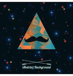 abstract hipster background with triangle and vector image