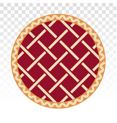 Apple pie cherry pie flat icons for apps vector
