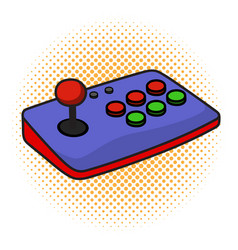 arcade game controller joystick on isolated white vector image
