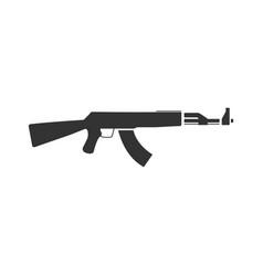 Assault rifle icon flat vector