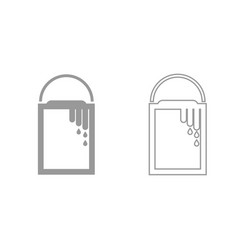 bank with a paint grey set icon vector image