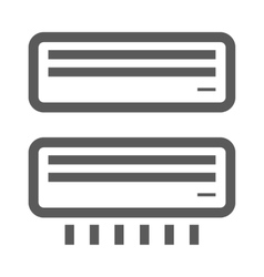 Black airconditioner icons vector
