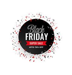 Black friday sale celebration confetti banner vector