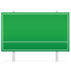 Blank-empty green highway road sign vector