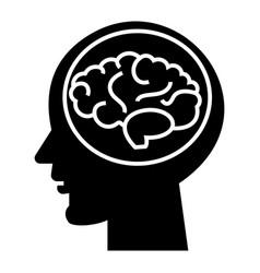 brain head - brainstorm in mind icon vector image