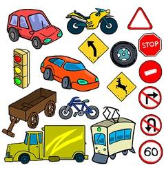Cartoonish traffic vector
