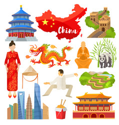 China chinese culture in asia and great vector