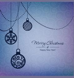 christmas balls card vector image