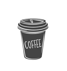 coffee drink disposable paper cup vector image