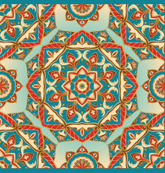 colorful pattern of mandalas vector image