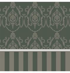 Damask pattern ornament vector