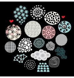 Design elements on black background vector image
