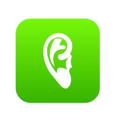 ear icon digital green vector image