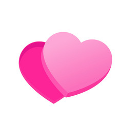 empty box of chocolates in the shape of heart vector image