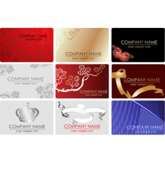 Fashion business cards vector