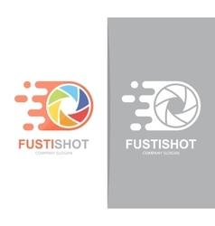 fast camera shutter logo combination Speed vector image