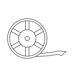 Film reel icon outline style vector image