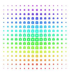 first aid kit shape halftone spectrum grid vector image