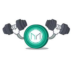 Fitness maker coin character cartoon vector