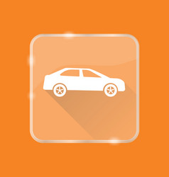 flat style car silhouette icon vector image vector image