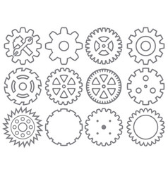 gear icons collection vector image