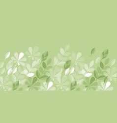 geometric style tender light green spring foliage vector image