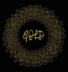 gold circle frame vector image