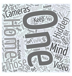 Hidden video cameras Word Cloud Concept vector