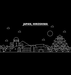 Hiroshima silhouette skyline japan - hiroshima vector
