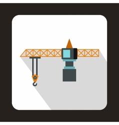 Hoisting crane icon flat style vector image