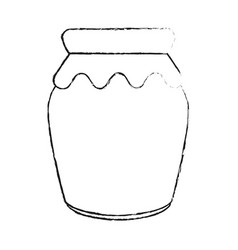 homemade jam bottle vector image