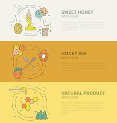 Honey Banners vector