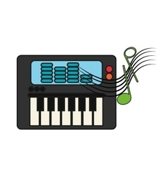 Isolated music note and piano design vector