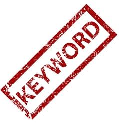 Keyword rubber stamp vector