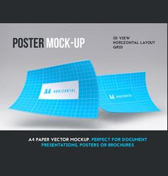 magazine booklet or brochure horizontal mockup vector image