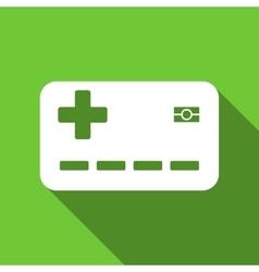 Medical Insurance Card Flat Long Shadow Square vector