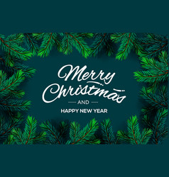 merry christmas and happy new year text template vector image