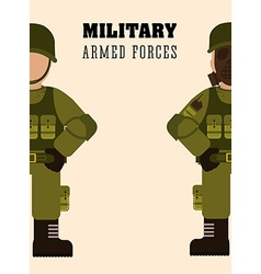 Military Armed Forces design vector