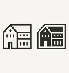 minimal residential building or house outline vector image