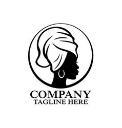 Modern woman in towel logo vector