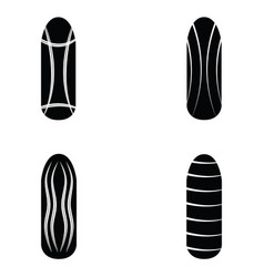 nails painted icon set vector image