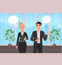 office corporate workers couple people vector image