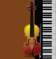 Piano with violin vector