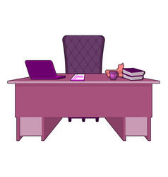 Pink office gay boss lgbt office table director vector